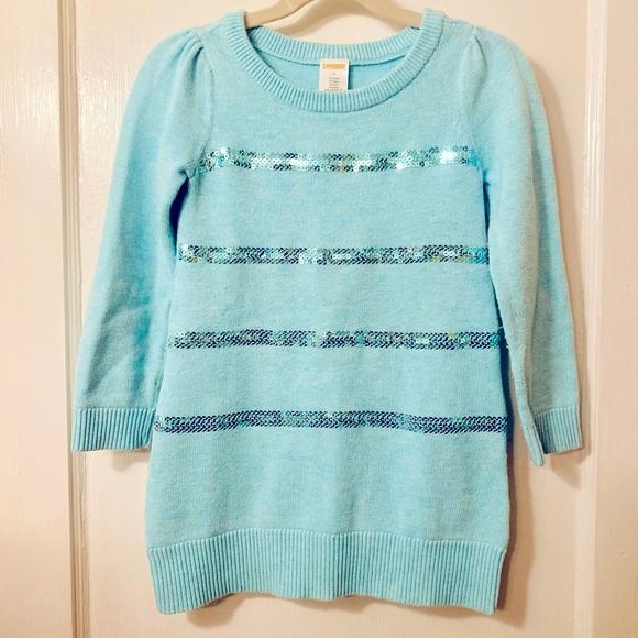 Gymboree sequin stripe sweater dress🤍SIZE: 4